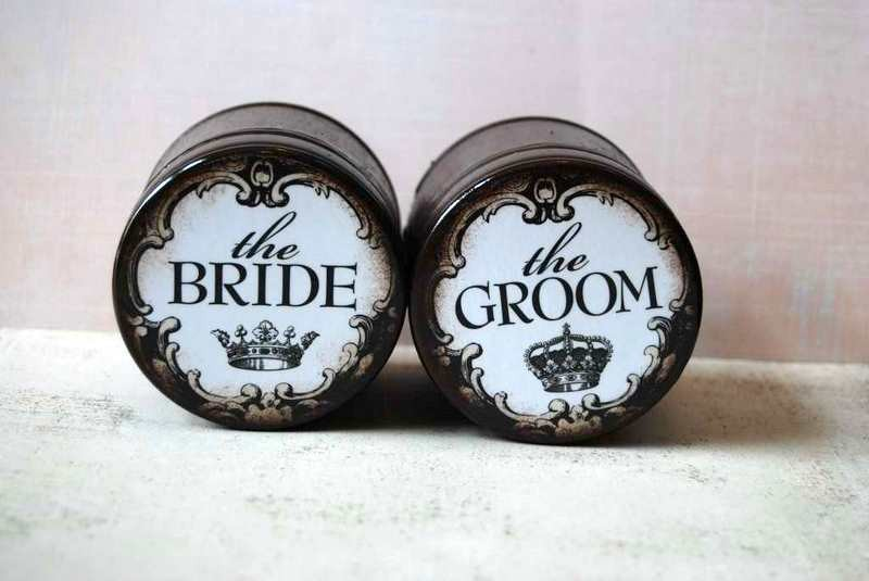 The Bride And The Groom - Wedding Ring Boxes Set Of 2