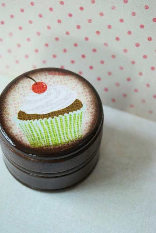 Happy Birthday - Cupcake Powder Box
